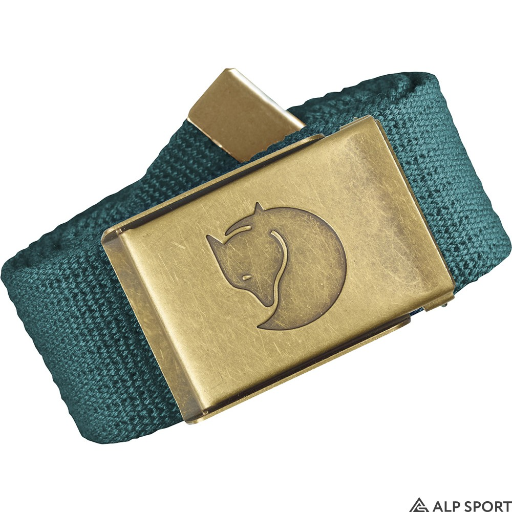 Ремень Fjallraven Canvas Brass Belt 4 cm glacier-green