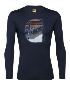 Термокофта Icebreaker 200 Oasis LS Crewe Mt Blanc Rise купить