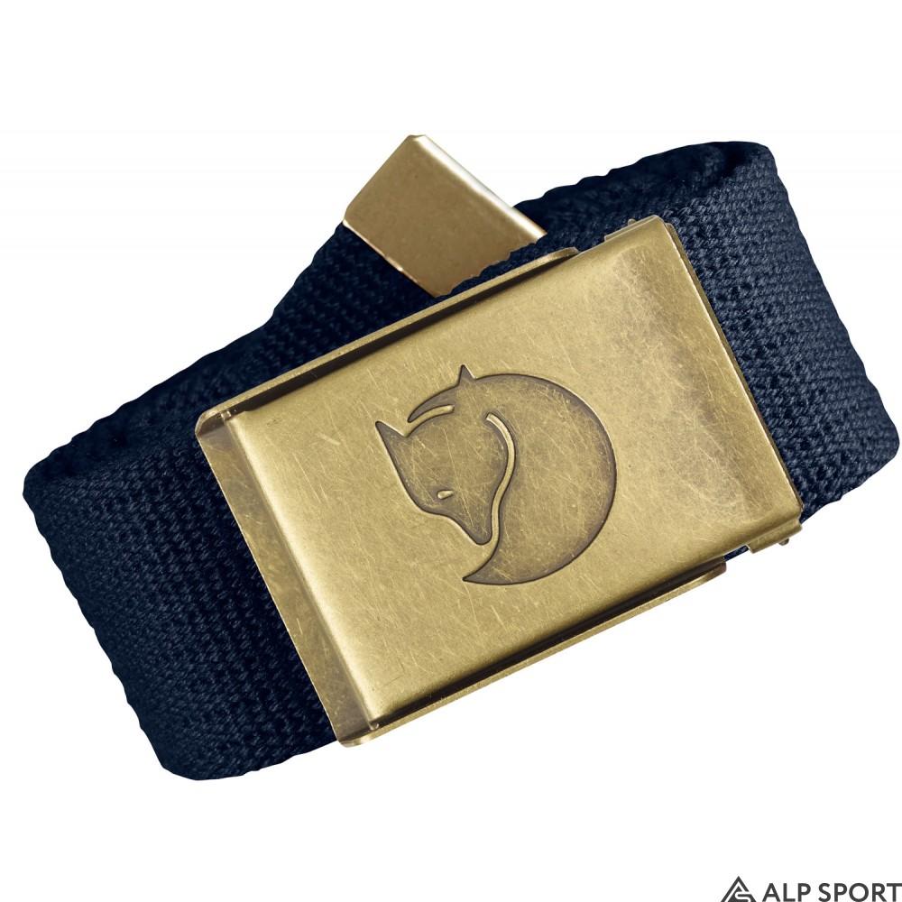 Ремень Fjallraven Canvas Brass Belt 4 cm dark-navy