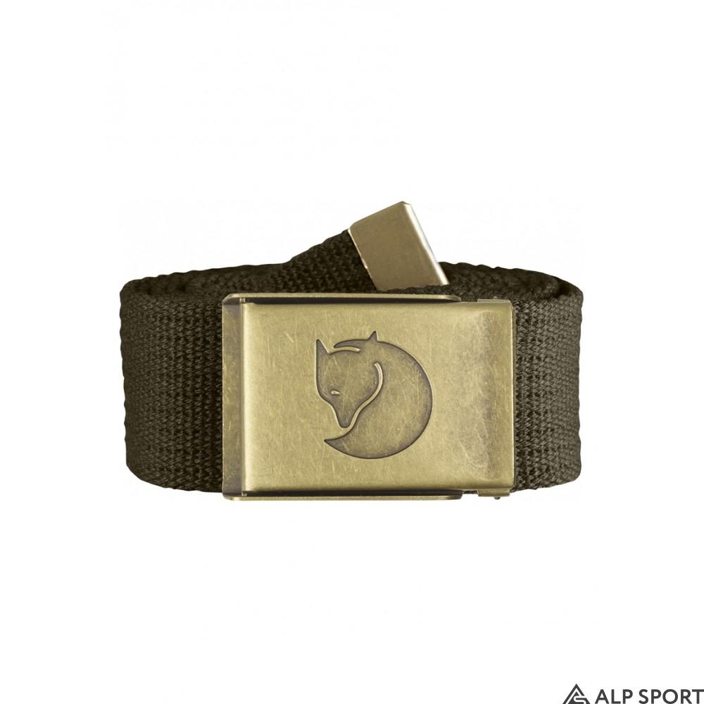 Ремень Fjallraven Canvas Brass Belt 4 cm dark-olive