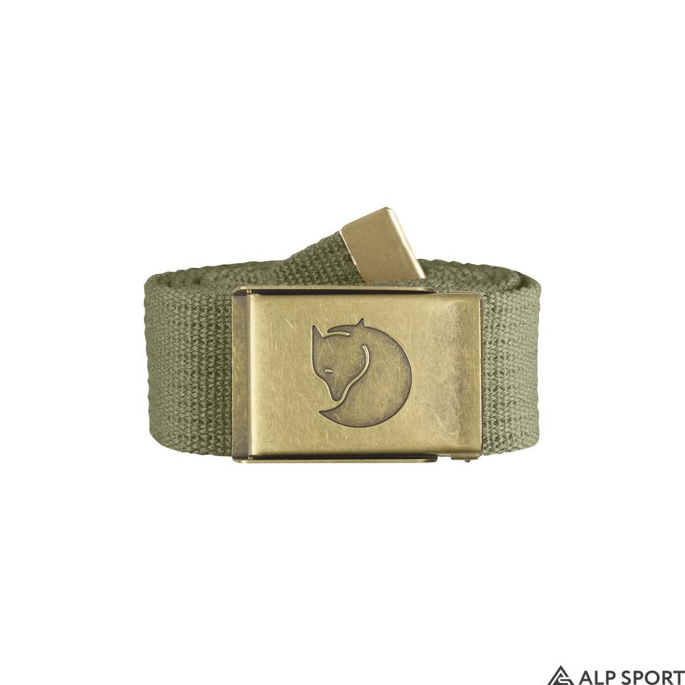 Ремень Fjallraven Canvas Brass Belt 4 cm green