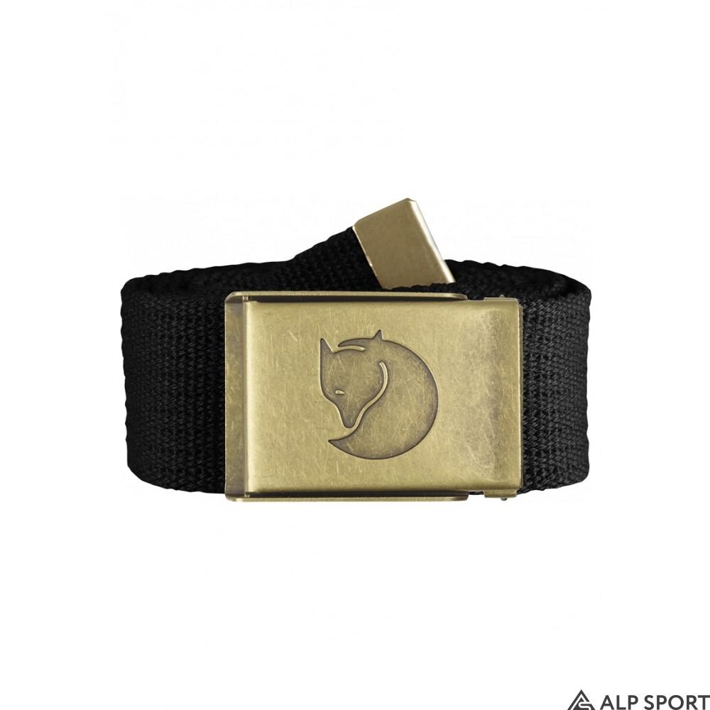 Ремень Fjallraven Canvas Brass Belt 4 cm black