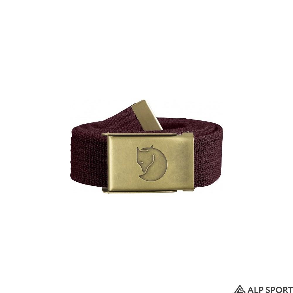 Ремень Canvas Brass Belt 3 cm dark-garnet