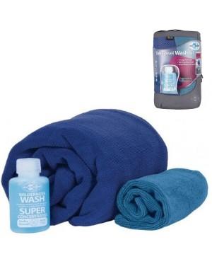 Набор 2 полотенца + универсальное мыло Sea To Summit Tek Towel Wash Kit купить
